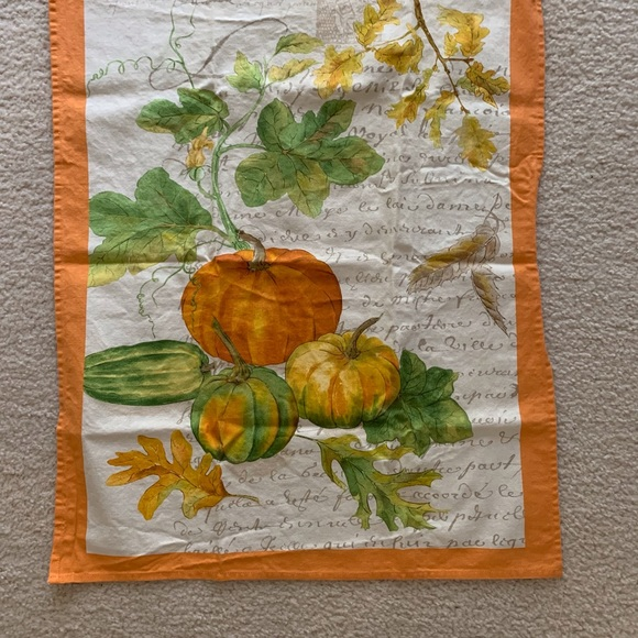 Vintage William Sonoma Autumn Tea Towels Set of 2